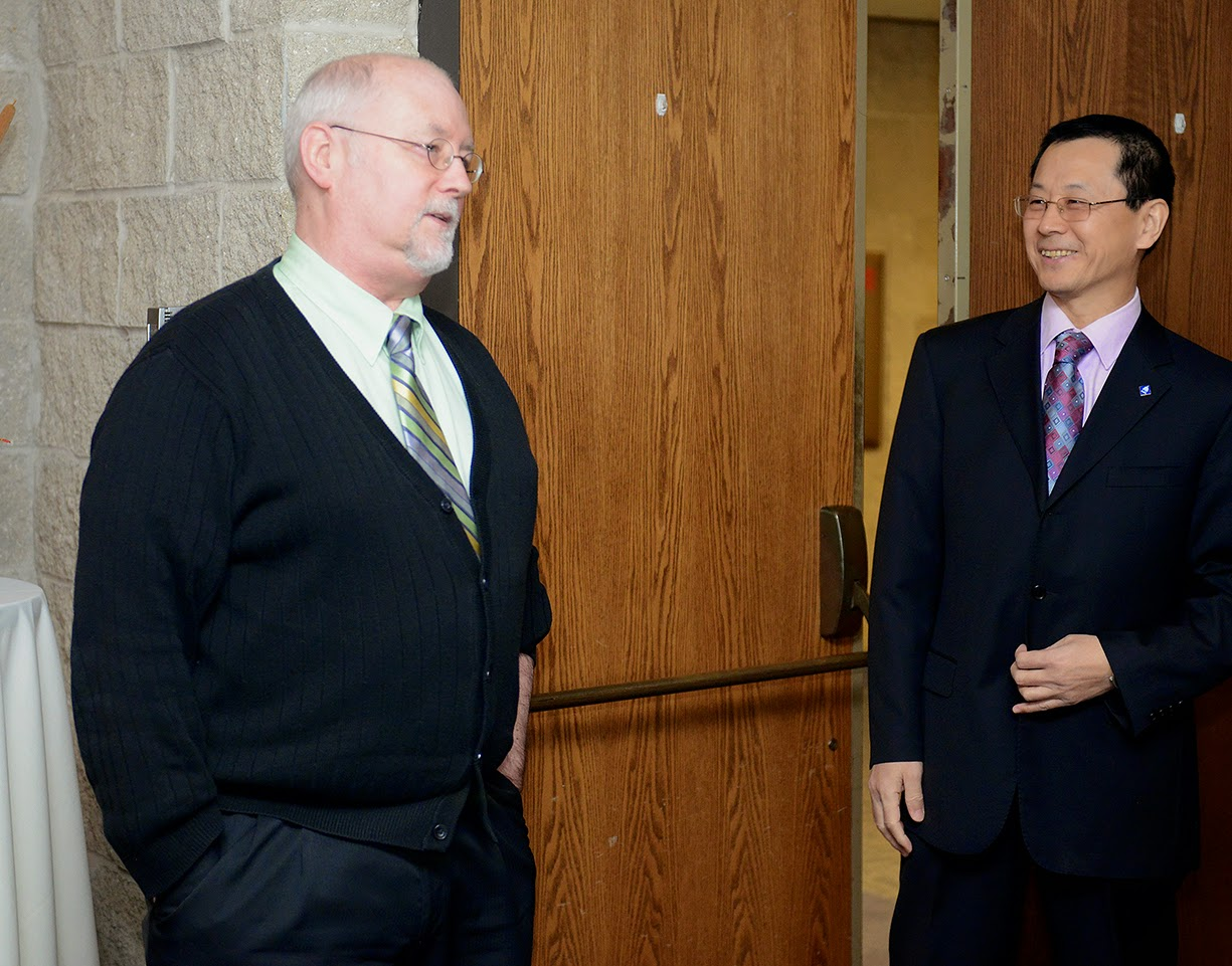 Dr. Abler and Dean Mi