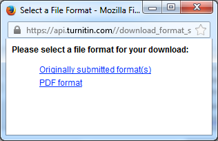 turnitin select format