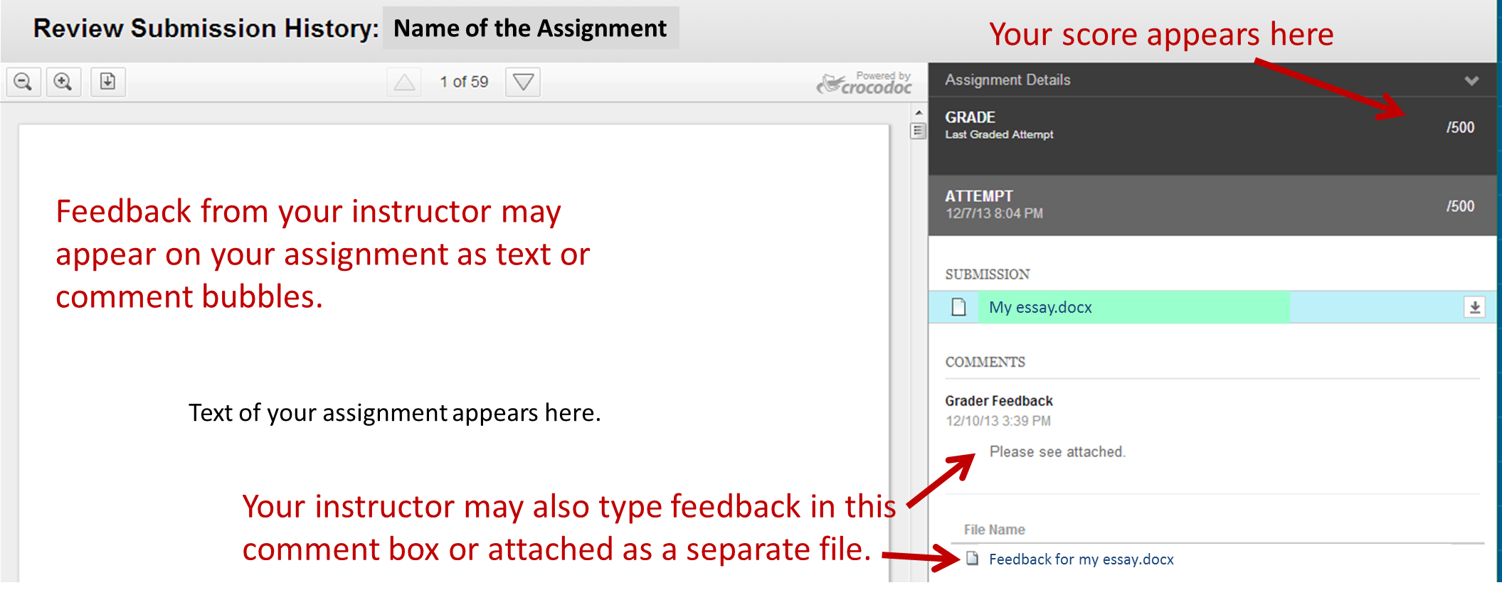 How do students submit their assignments in Blackboard    Find