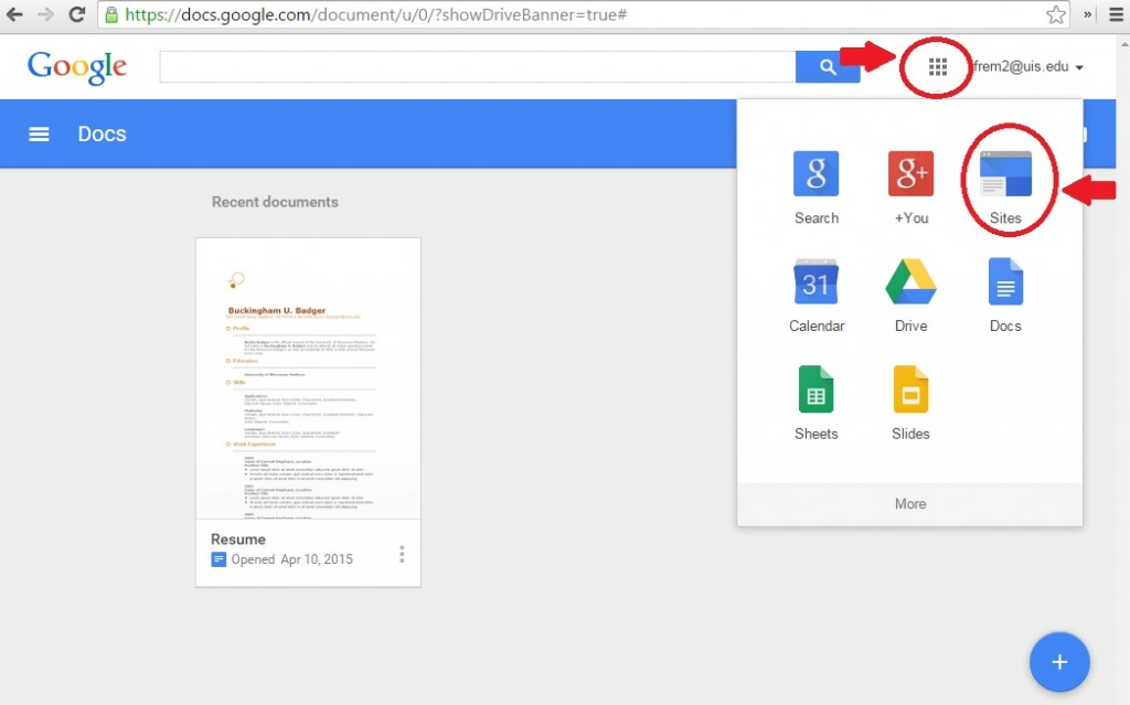 How to create a google site for your online class a Google sites sign in