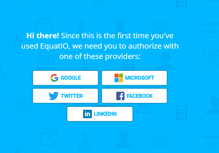 options to use existing logins with google, microsoft, twitter, facebook, and linkedin