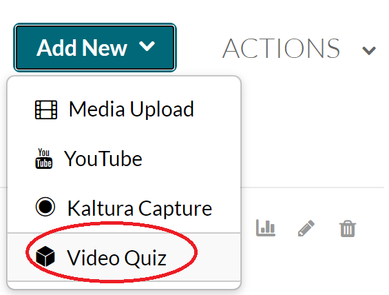 video quiz button