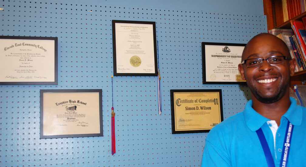 Simon Wilson and diplomas