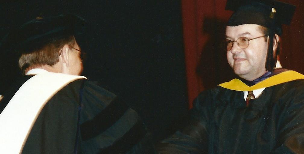 Bill Hoffman receives master's degree.