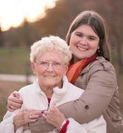 Melanie with her grandmother