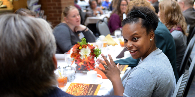 Janell Mathus at the 2014 Scholarship Luncheon